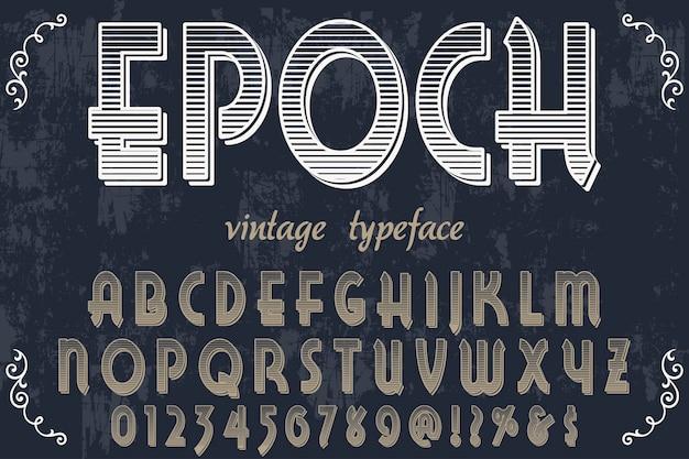 Alter stil typografie label design epoche