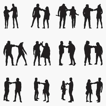 Alternative handshake-silhouetten