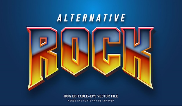 Alternative rock text-effekt und bearbeitbare schriften