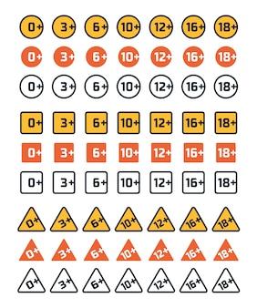 Altersbewertungssymbole