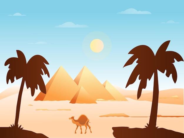 Altes ägypten hintergrund vektor-illustration