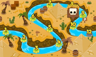 Altes Ägypten Spiel Level Map