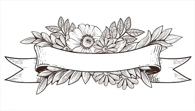 Altes band mit flora ornament