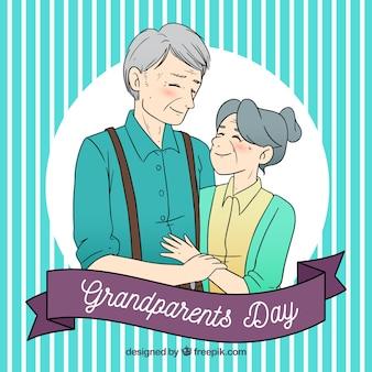 Altes ehepaar in der liebe