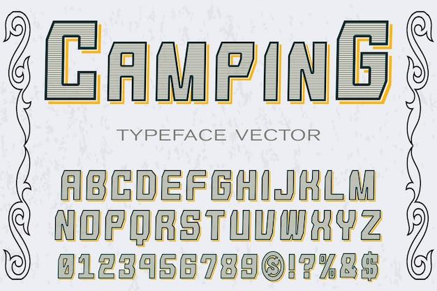Altes guss-etikettendesignkampieren