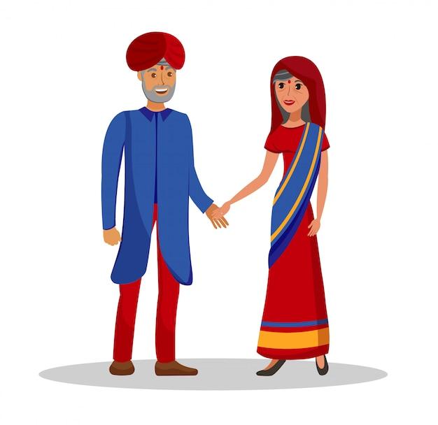 Altes indisches paar