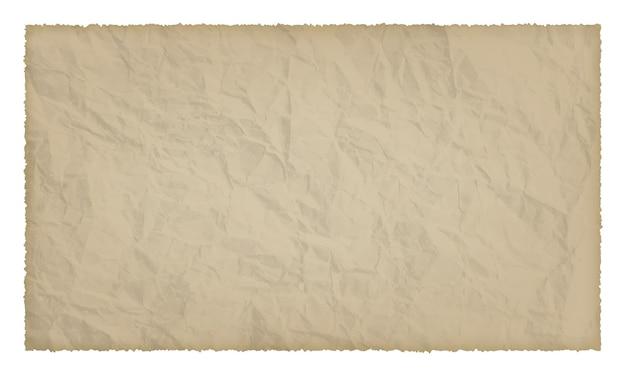 Altes papier mit verbrannten kanten auf weißem hintergrund mit platz für ihren text. vektor-illustration
