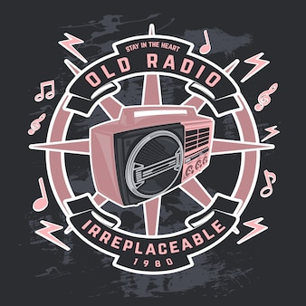 Altes radio, vektorradioabbildungen