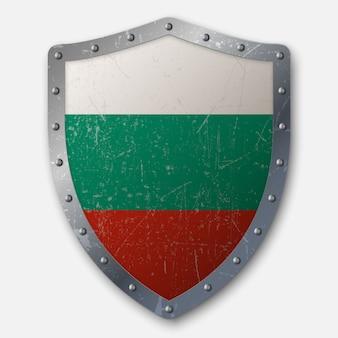 Altes schild mit flagge von bulgarien