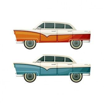 Altes vintage-spielzeug zwei autos