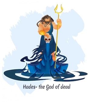 Altgriechischer gott, könig der toten hades oder aidis