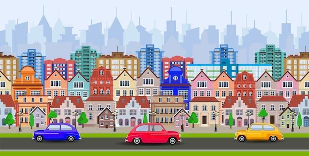 Altstadt dorf hauptstraße eine europäische stadt. stadtlandschaft.