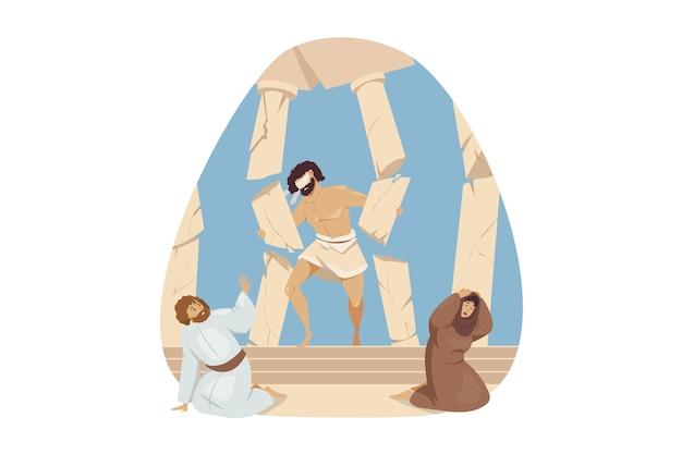 Alttestamentliche biblische genesis religiöse serie.