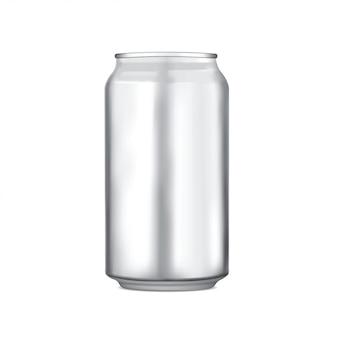 Aluminium kann verpackungsvektor