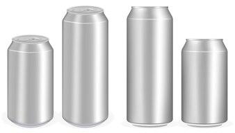 Aluminium-Softdrink-Dosen-Vektor