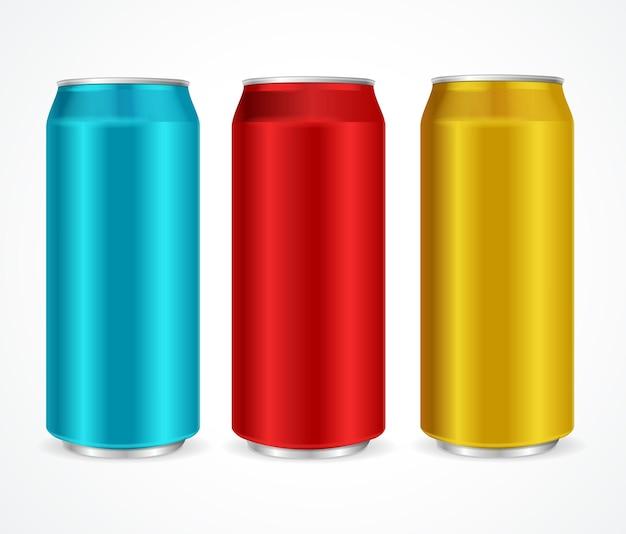 Aluminium verschiedene farben dosen