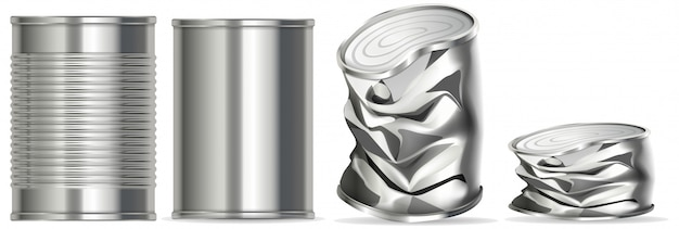Aluminiumdose ohne etikett