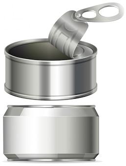 Aluminiumdosen ohne etikett