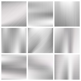 Aluminiummetallvektor gebürstete beschaffenheiten