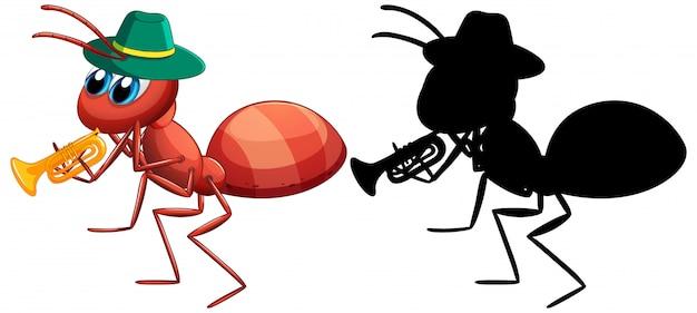 Ameise und es silhouette