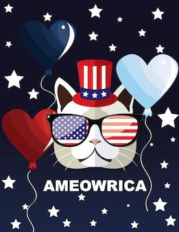 Ameowrica 4. juli unabhängigkeitstag