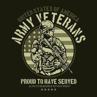 American army veteran design