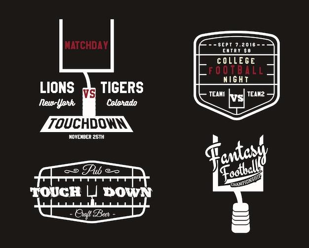 American-football-abzeichen festgelegt