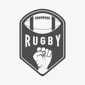 American football beschriftet embleme