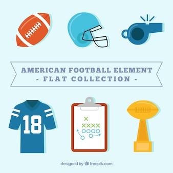 American-football-element flach set