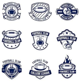 American football embleme. element für logo, etikett, zeichen. bild