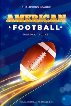 American football event plakat vorlage