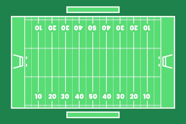 American football feld flach lag