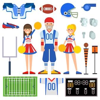 American football gesetzt