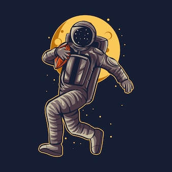 American football illustration des astronauten