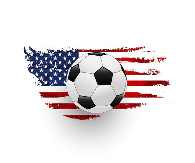 American football illustration lederball mit grunge vereinigte staaten von amerika flagge usa national football league championship