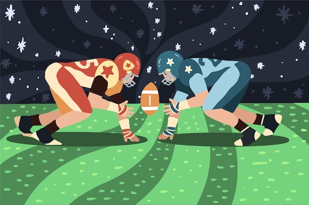American-football-illustration