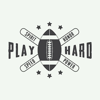 American-football-label, emblem