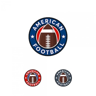 American football logo abzeichen