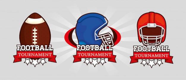 American football-logo festgelegt