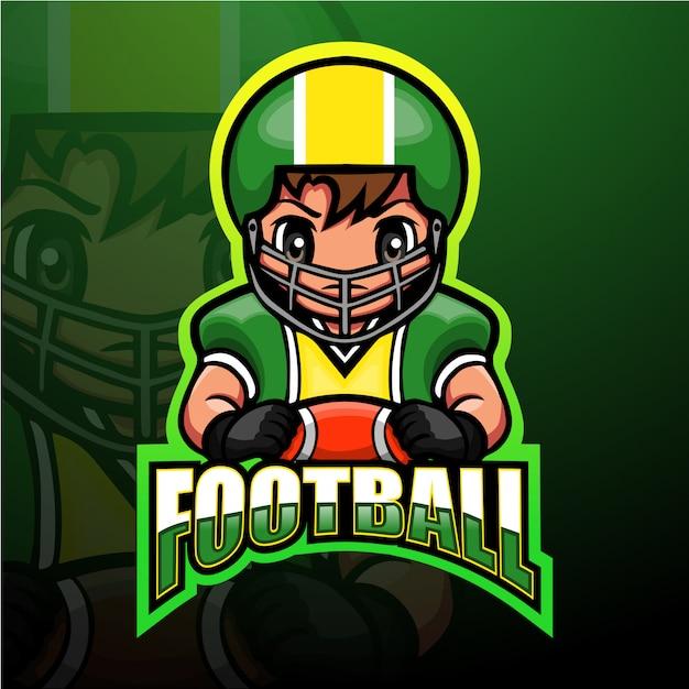 American football maskottchen esport illustration