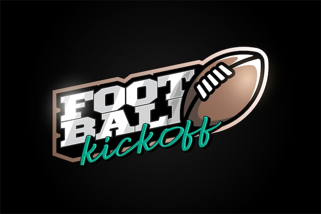 American football maskottchen moderner profisport typografie im retro-stil.