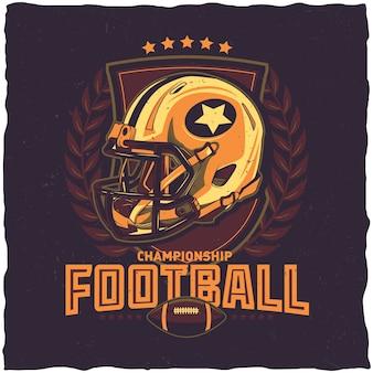 American-football-meisterschaftsplakat