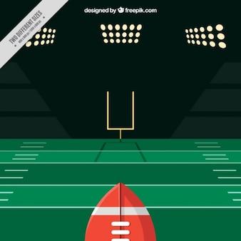 American-football-spiel hintergrund in flaches design