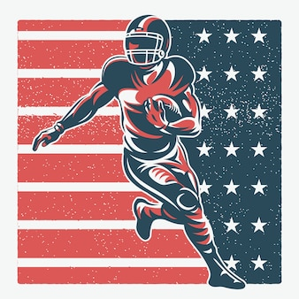 American football spieler illustration