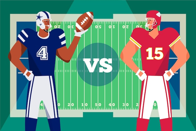 American-football-spieler illustriert