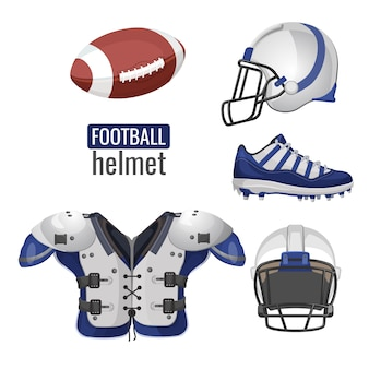 American football-spieler-outfit.