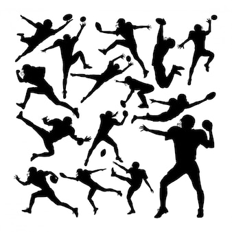 American football-spieler silhouetten