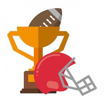 American football-sportspiel