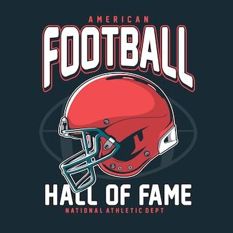 American football t-shirt grafik