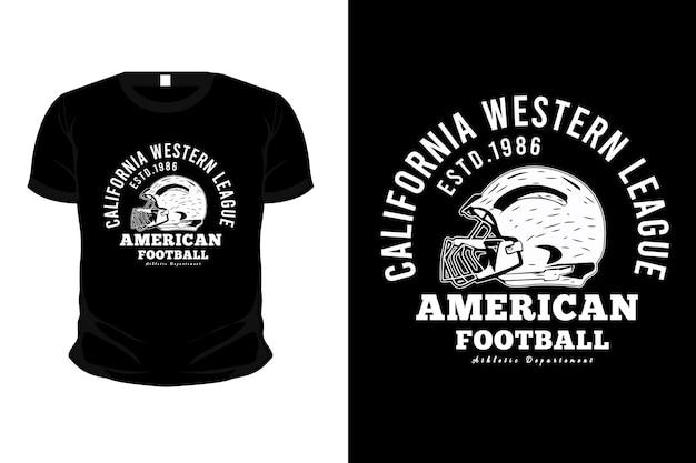 American football typografie merchandise t-shirt design